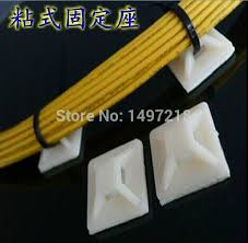 popular cable clips adhesive buy cheap cable clips adhesive lots shipping whole 100pcs lot 40mm 40mm white zip tie self adhesive cable clips