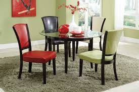 Glass Kitchen Tables Round Design999749 Glass Top Dining Table Set 4 Chairs Kona Round