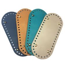 New <b>21x9cm</b> Oval Long <b>Bottom for</b> Knitting Bag PU Leather Women ...