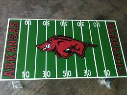 Beer Cooler Coffee Table Go Hogs Coffee Table Painted To Look Like The Razorback Football