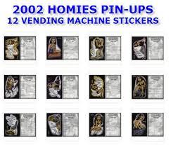 Homies Vending Machine Awesome 488 HOMIES GIRL PINUPS VENDING MACHINE 488 STICKERS SET 488488 X 48