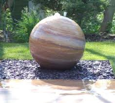 sandstone water fountains sphere ball fountain i16
