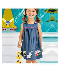 Europe And The United States Childrens Skirts Cotton Childrens Denim Skirt Car Bunny Girl Dress Hot Girls Skirt