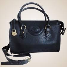 vintage dooney bourke black all weather leather satchel bag seasons past ruby lane