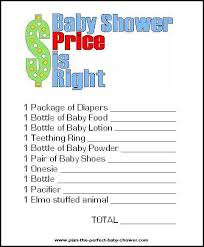 Price Is Right Printable Shower Game And 13 More  CrAfTy 2 ThE Shower Games For Baby