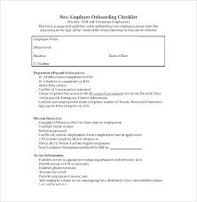 Employee Hire Forms New Hire Forms Checklist Template