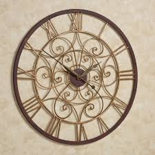 Ralston Round Metal Wall Clock
