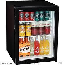 dellware silent 60litre motel mini bar fridge with triple glass door and lock