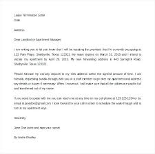 Termination Letter Templates Landlord Lease Termination Letter