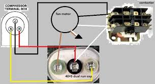 capacitor wiring diagram hvac wiring diagram schematics four wire condensor fan motor doityourself com community forums