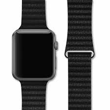black leather loop apple watch strap 42 44mm in india dailyobjects