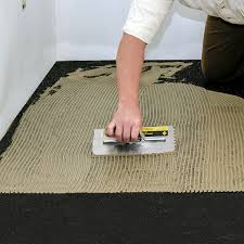 iso step floor underlayment apply adhesive to the iso step using recommended