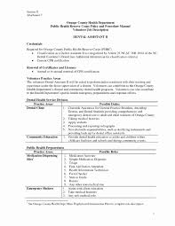 Dental Assistant Resume Templates Awesome Gallery Of Dental Nurse
