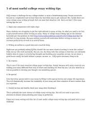 Tips For College Essays