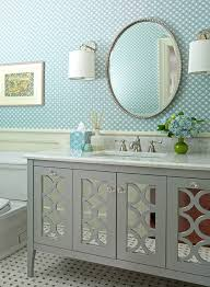 30 W Silver Trim Glamorous Mirrored Bathroom Vanity Cabinets Dining Room  Amazing Design Ideas For ...