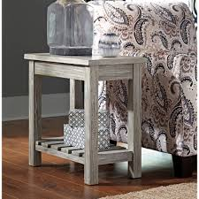 Ashley Furniture Veldar Chair Side End Table in Whitewash