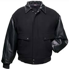 union line executive wool leather jacket