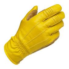 gloves yellow leather gold biltwell work gloves biker custom motorcycle leather gloves bikers products for custom riders