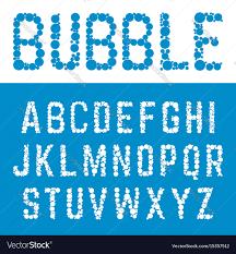 Bubble Letters Font Alphabet Bubble Font Template Letters Bubbles Vector Image