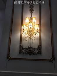 Hotel Lamp Goud Wandlamp Badkamer Crystal Wandlamp Grote Goud