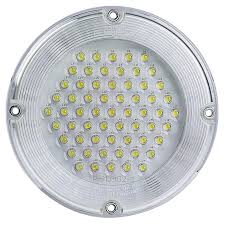 moonlight white round dome light led fixture face view of led dome
