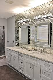 antique mirrored arabesque tile wall in