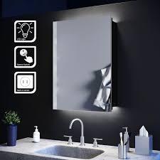 elegant illuminated bathroom mirror