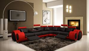 Black Leather Sectional Sofa With Recliner Furniture Red Accent Black Leather Sectional Sofa With Recliner