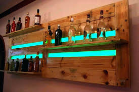 liquor bottle shelf wall mounted wooden pallet bar shelves or beverage racks with wood full