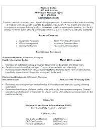 Entry Level Medical Billing And Coding Resume Resume For Medical Billing And Coding Medical Coder Cover Letter