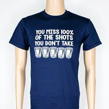Quote T Shirts Simple You Miss 48% Of The Shots You Don't Take TShirt Quote Tee Tshirt