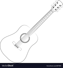 Black Outlines Guitar