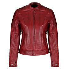 valerie red leather jacket