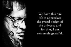The Grand Design We Have This One Life To Appreciate The Grand Design Of The