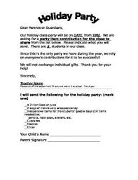 Halloween Classroom Party Letter Template Halloween Class Party