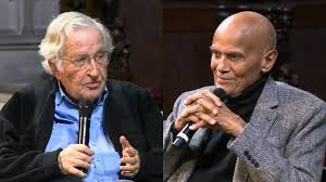 noam chomsky harry belafonte speak on stage for the first time noam chomsky harry belafonte speak on stage for the first time together talk trump klan having a rebellious heart open culture