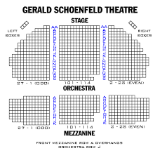 Gershwin Theater Seating Chart With Seat Numbers Broadway London And Off Broadway Seating Charts And Plans