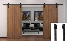 sliding door hardware. Amazon.com: TCBunny 43188-258612 13\u0027 Black Country Barn Wood Steel Sliding Door Hardware Set Antique Style, Double Doors, Steel: Industrial \u0026 Scientific