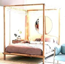 4 Post King Size Beds Wood Canopy Bed Poster Frame Four ...