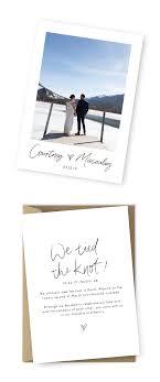 Announcement Cards Wedding Elopement Announcement Examples Elopement Cards Wedding