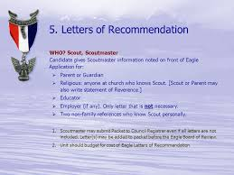 5 Letters of Re mendation
