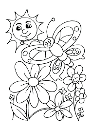 Spring Flower Coloring Pages Pdf Springtime Printable Coloring