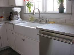cozy granite countertop with ikea farmhouse sink for modern kitchen design