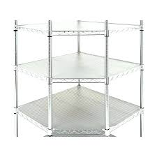 corner metal shelves corner wire shelves maxim 6 tier commercial corner wire rack shelving system wire
