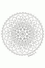 Vuurbloem Mandala In Bloemen Mandala Kleurplaat Beste Kleurplaat