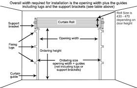 gliderol steel roller garage door dimensions