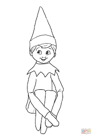 Girl Elf On The Shelf Coloring