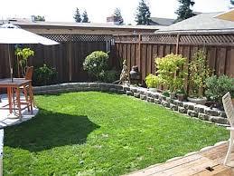 Yard Landscaping Ideas On A Budget Small Backyard Landscape Cheap ...