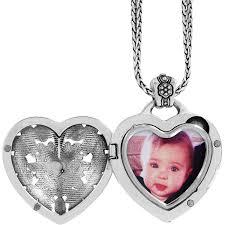 fl heart locket necklace in