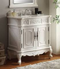 White Wood Bathroom Vanity Carved White Wooden Bathroom Vanity Cabinet With Glossy Top And